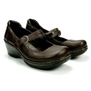 BOC Born Mary Jane Shoes Brown 6.5 Loafers Slip On